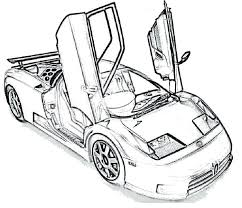 Bugatti Veyron Super Sport Colouring Pages Coloring Page Best Images On