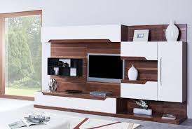 Living Room Wonderful White Dark Brown Wood Glass Unique Design