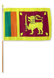 Sri Lanka 12x18in Stick Flag