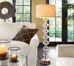 Jasmine Glass Floor Lamp Base Pottery Barn $305 | Shopping ... Floor Lamp With Crystal Shade And Lights Brass Standing Lamps Living Room Remarkable Pottery Barn Style Just Magnificent 2 Bulb Lantern Shopgoodwillcom Unmarked Vintage Similar But Christmas In The Family Room The Sunny Side Up Blog Kitchen Ideas Island Bench Outstanding White Curvy For Which Is 50 Off Antique Mercury Glass Table Family Upstairs Arthur Sectional Sarahs