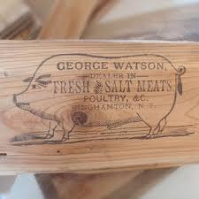 Vintage Pig Sign Kitchen Home Decor Ad Wooden