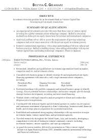 Investment Analyst Resume Sample Banking Intern Experienced
