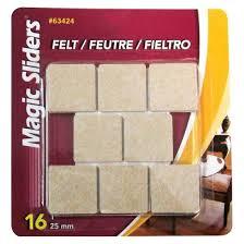 magic sliders 1 square felt self stick pads 16 ct target