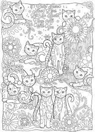 Desenhos Para Colorir Adultos Gatos