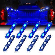 8 Blue LED Rock Light Pods Truck Bed Lighting Kit | Xprite Truck Bed Accsories Blight Bp Battery Powered Led Putco Strip Lighting Kit 186374 At 52017 Ford F150 Recon High Oput Cree Cargo Lumen Trbpodblk 8pod Lights Light Multi Color 4 To 6 Boogey Aliexpresscom Buy 8pc Waterproof Pickup K61 Xtl Technology Extreme Watch Led Install 2018 Operated With 48 Super Bright White Amazoncom
