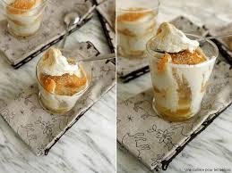 dessert avec des boudoirs une cuillère pour les délices verrine au fromage blanc