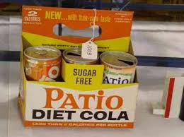 patio diet cola cardboard carrier with 6 patio cans sells for one