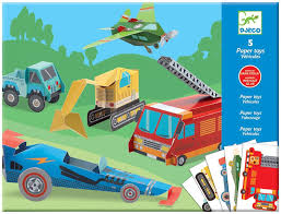 99 Trucks Paper Amazoncom Djeco DJ09702 Toys Toy Varios Toys Games