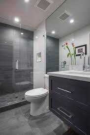 contemporary 3 4 bathroom with pental meteor grigio 12x24