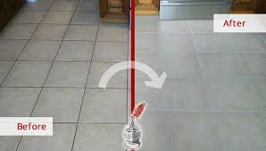 our tile and grout cleaners completely restored this kitchen floor