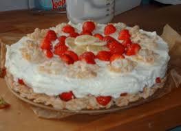 erdbeer bananen crunch torte
