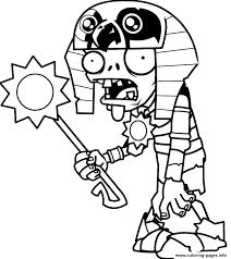 Interesting Idea Plants Vs Zombies Coloring Pages Egypt Printable