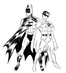 Batman And Robin Coloring Pages Printable 1