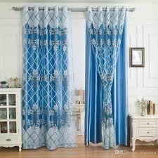 großhandel glasperlen vorhang luxus blackout vorhang bestickt voile für wohnzimmer schlafzimmer blau superior qualität jacquard dekoration bigmum