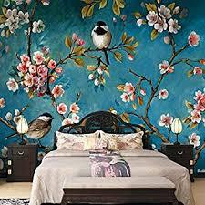 abihua wandbilder fototapete 3d stereo blumen vögel wandbild schlafzimmer wohnzimmer textur tapete floral 3d 280cm x 180cm