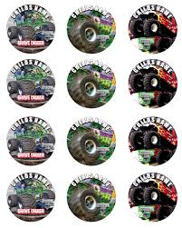 Monster Jam Set Of 12 Round Personalized Stickers Or Cupcake Toppers ... Personalised Monster Truck Edible Icing Birthday Party Cake Topper Buy 24 Truck Tractor Cupcake Toppers Red Fox Tail Tm Online At Low Monster Trucks Cookie Cnection Grave Digger Free Printable Sugpartiesla Blaze Cake Dzee Designs Jam Crissas Corner Cake Topper Birthday Edible Printed 4x4 Set Of By Lilbugspartyplace 12 Personalized Grace Giggles And Glue Image This Started