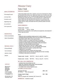 Sales Clerk Resume Example Sample Cash Handling CV Layout Selling Customers Shop