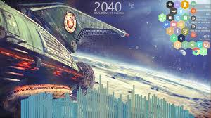 Retro Space Art Wallpaper