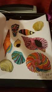 Sea Shalls I Color From The Colorama Coloring Book