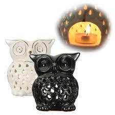 Ceramic Owl Oil Burner Fragrance Aromatherapy Tea Light Candle