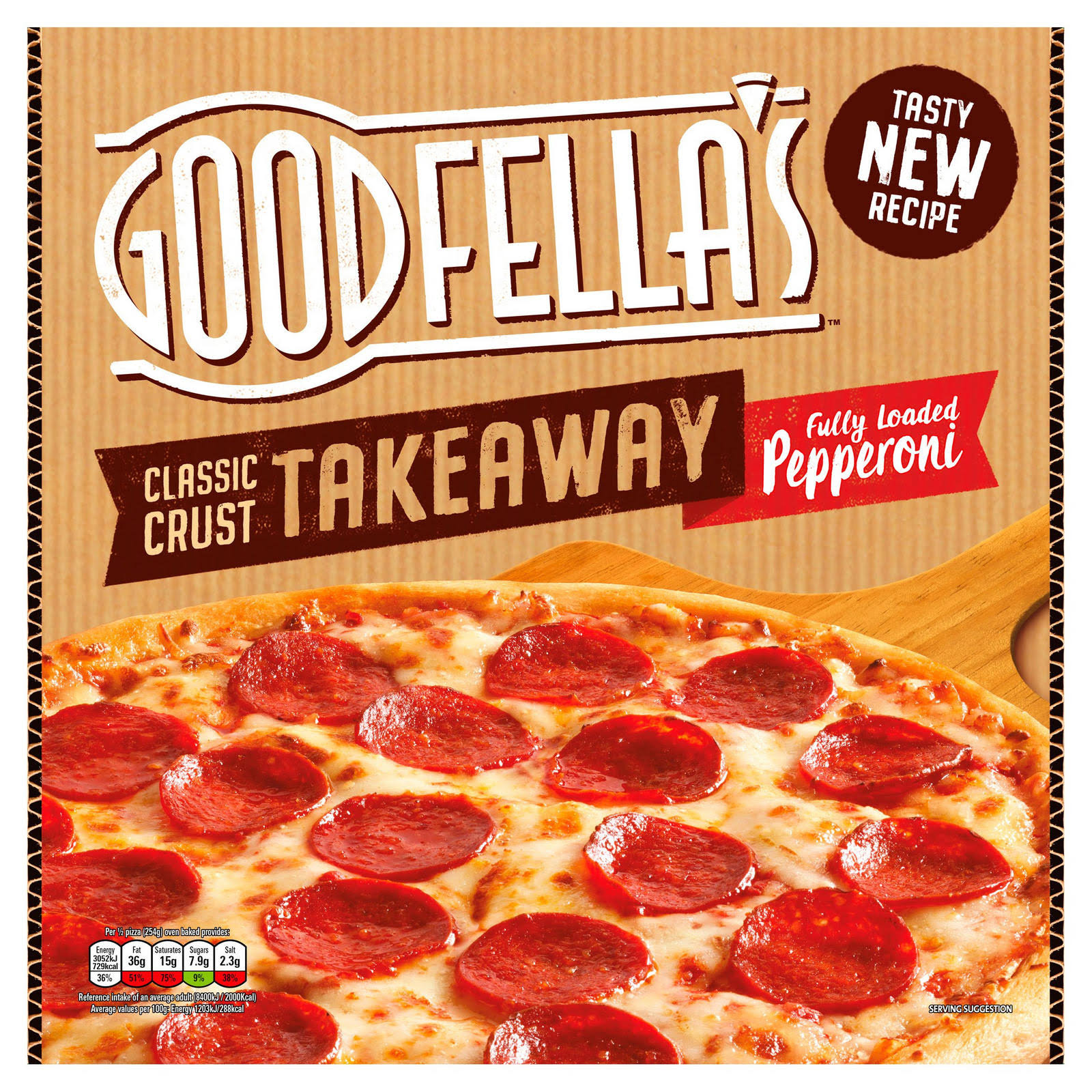 Goodfella s Takeaway Pizza - Pepperoni, 553g