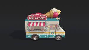 ArtStation - Ice Cream Truck, Marcin Dyjak