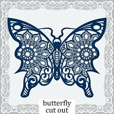 Coloring Butterfly Cut Paper Templates For Pages And Crafts Cutting