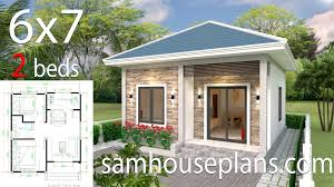 100 Home Photos Design Simple House Design 6x7 With 2 Bedrooms Hip Roof Sam House Plans