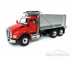 Kenworth T880 Dump Truck, Viper Red-Silver - First Gear - 1/50 Scale ...