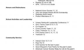 Resume Other Interests Examples Beautiful Example For High School Students College Applications