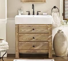 Mason Reclaimed Wood Single Sink Console Wax Pine Finish