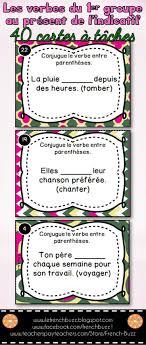 si er conjugaison les verbes du premier groupe en er cartes à tâches
