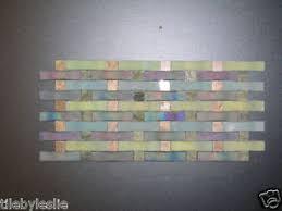 weave georgette aqua blue green backsplash glass tile ebay