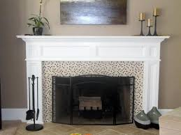 double mantle fireplace decorative lighting sided space mantels