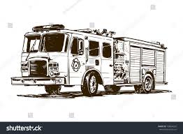 100 Fire Truck Drawing Stock Vector Royalty Free 738894262 Shutterstock