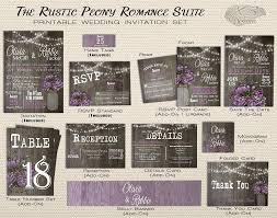 Purple Mason Jar Wedding Invitations
