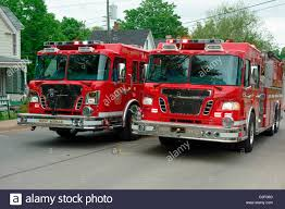 100 Red Fire Trucks Two Red Trucks Rushing To The Scene Of A Fire On A