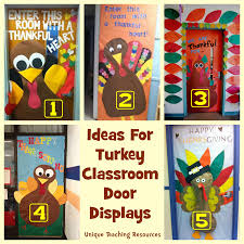 Examples Of Some Cute Turkey Designs For Your Classroom Door To Use