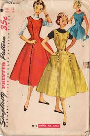Vintage 1950s Simplicity Sewing Pattern 4810 Teen Girls Rounded Neckline Dress Bust 30