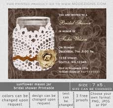 Rustic Wedding Shower Invitations Template CHFIKMcA