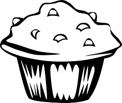 Drawn muffin black and white 1