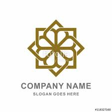 Geometric Morocco Ornament Interior Decoration Square Flower Vector Logo Design Template