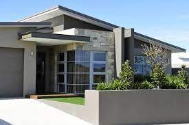 104 Skillian Roof Skillion And Beautiful Feature Stonework House Exterior Modern Design Facade House