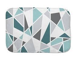 Yellow Gray And Teal Bathroom by Yellow Bath Mat Geometric Gray And Mustard Yellow Bathroom