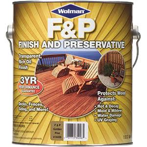 Wolman F & P Wood Finish - Golden Pine, 1gal