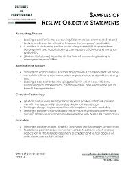 Career Objective Resume Examples Marketing Of On A In Good Sample Samples Objectives