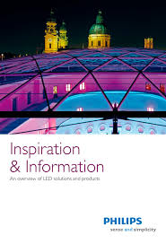 led brochure inspiration and infomation philips lighting pdf