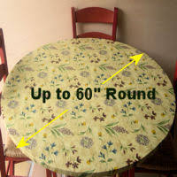 Round Patio Tablecloth With Umbrella Hole by Fitted Vinyl Tablecloths Elastic Tablecloths Fits Round Tables