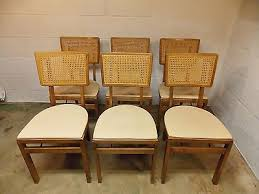 Stakmore Folding Chairs Vintage by Mid Century Card Table Set Folding Cane Chairs Stakmore Mid