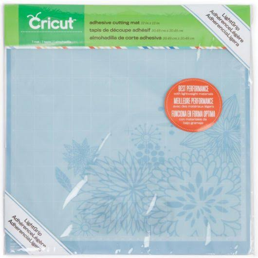 "Cricut 2001976 LightGrip Adhesive Cutting Mat - 12"" x 12"""